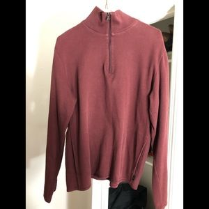 Hugo Boss burgundy XL sweatshirt w tons of detail